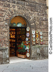 Siena shop - A typical traditional shop in the historic...