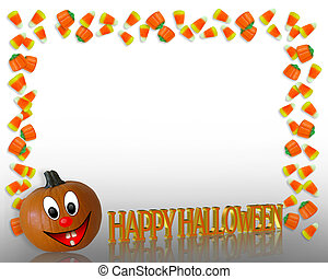 Halloween Candy Corn Frame - Image and illustration...