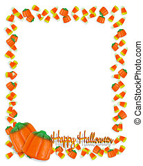 Halloween Candy Corn Frame 3D - Image and illustration...