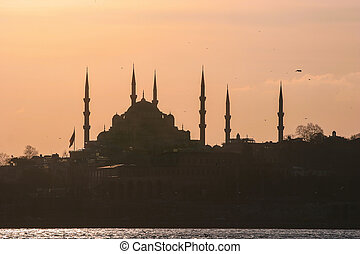 Silhouette of Istanbul, Turkey
