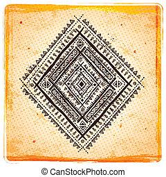 Vintage Ethnic sunflower background