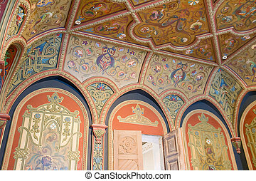 Ornate wall and ceiling in a palace