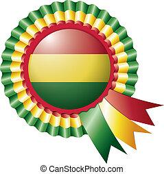 Bolivia rosette flag