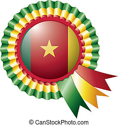 Cameroon rosette flag