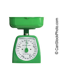 0 kilograms - An empty scale against a white background