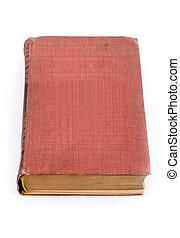 B, viejo, aislado, libro, cerrado, blanco