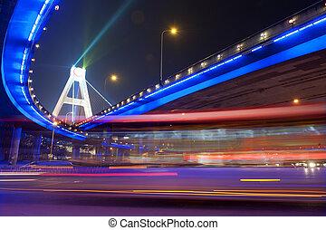 de alta velocidad, urbano, Senderos, vehículos, confuso, caminos