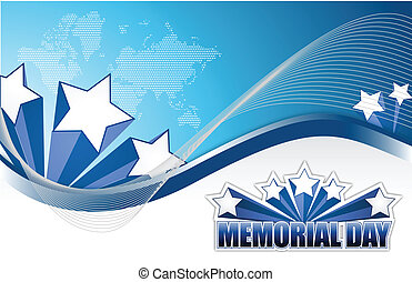 USA Memorial day sign illustration design graphic background
