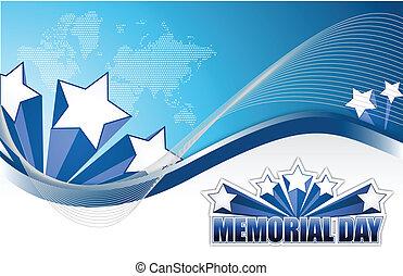 USA Memorial day sign