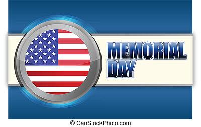 USA Memorial day sign illustration design graphic background