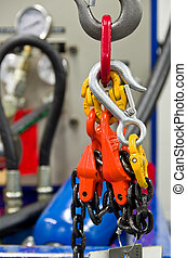 Crane - Rigging Equipment on a Hook and Crane