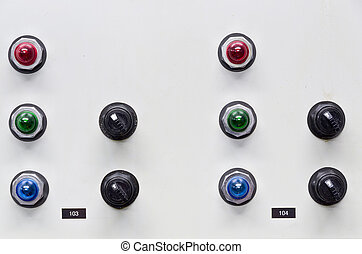 Control Panel - Systems Control Panel with Multiple Buttons...