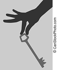 Key hand - Creative design of key hand