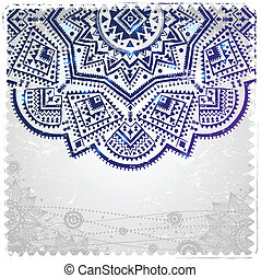 Ethnic ornament on the vintage background