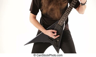 Metalhead playing guitar