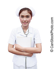 young nurse with medical report