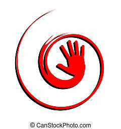 Creative hand - Creative desig of red hand