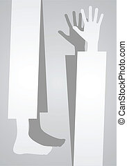 Vertical banner of hand and foot