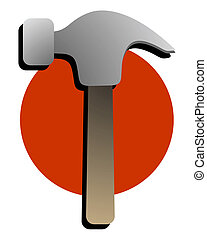 Icon hammer - Creative design of icon hammer