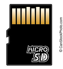 Micro SD memory - Illustration of micro sd memory
