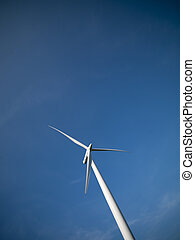 582 low angle view of a power generating wind mill