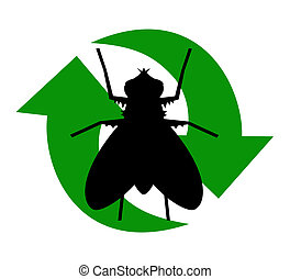 recycled fly icon
