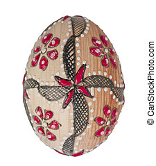 600 painted easter egg - Close up image of painted easter...