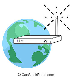 Global wireless router