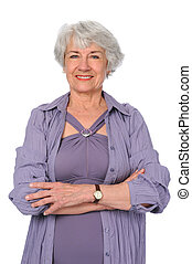 Senior Citizen Woman - Attractive senior citizen woman in...