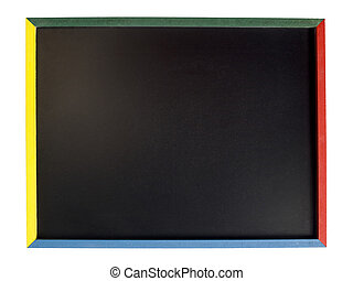 674 blackboard - Blackboard with colorful quadrant sides