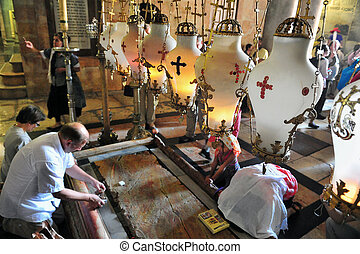 Church of the Holy Sepulcher in the Jerusalem Israel -...