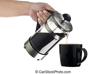 719 cropped image of a human hand serving coffee - Vector...