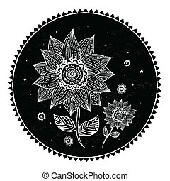 Beautiful sunflower background - Beautiful sunflower on the...