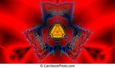 Fluid pattern on a red background - The beautiful bright...