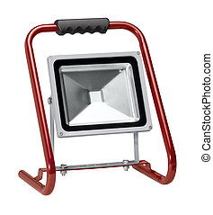 portable floodlight - a portable floodlight in white back