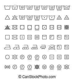 Laundry symbols - Vector illustration
