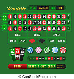 American Roulette Online - Vector illustration