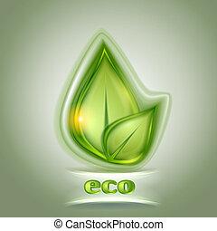 Leaf icon green background