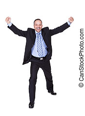 Businessman Celebrating Success - Happy Businessman...