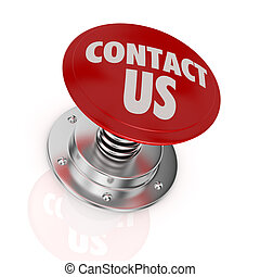 contact us - one push-button with the text: contact us (3d...