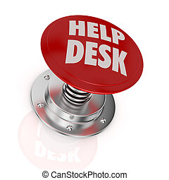 help desk - one push-button with the text: help desk (3d...