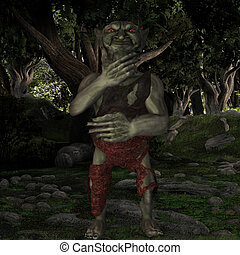 Goblin - 3D Render of an Goblin-Fantasy Figure