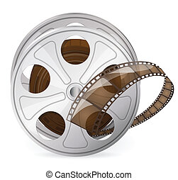 Reel of movie tape - Vintage reel of movie tape