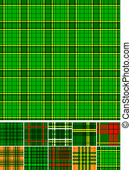 Tartan, plaid seamless 10 patterns