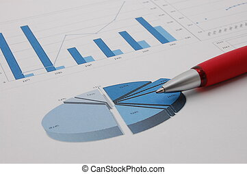 Business chart - A graph which shows the economic growth
