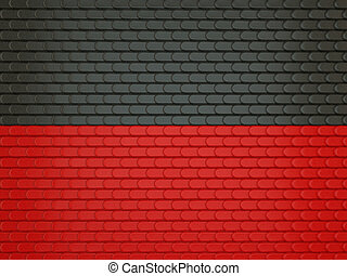 Black and red Leather stitched background with scales texture