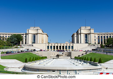Palais de Chaillot at the Trocadero in Paris, France.