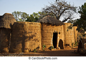 mud house - a mud house in West Africa