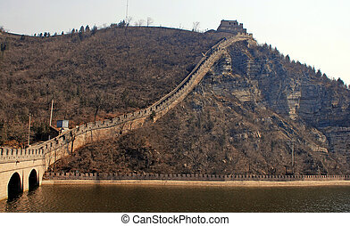 Great WallChina - Horizontal majestic view of famous Great...