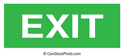 Exit sign vector illustration